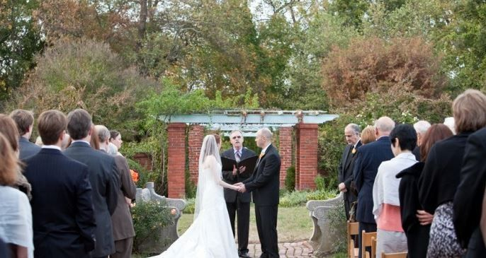 A favorite ceremony spot - our garden arbor.