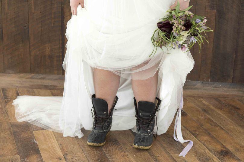 Cliff House wedding bride shoe