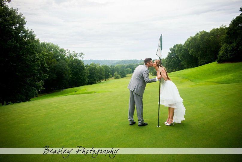 Bride and groom by Beasley Photography Dalton Georgia