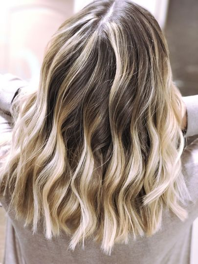 A cool blonde ombre