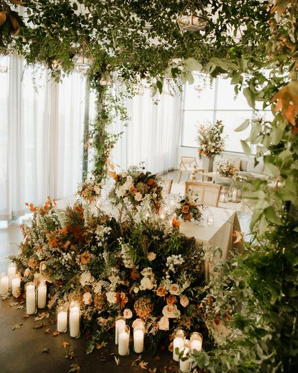 Flowers and candles - Photo by Alaura Creative