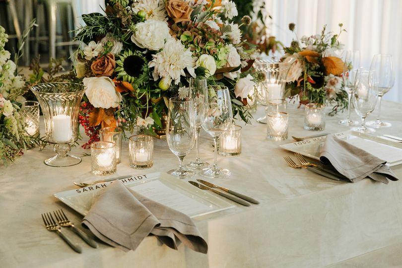 The dinner setup - Photo by Alaura Creative