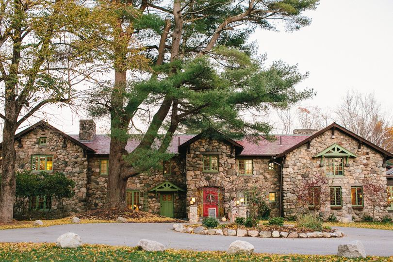 fall front of house estate