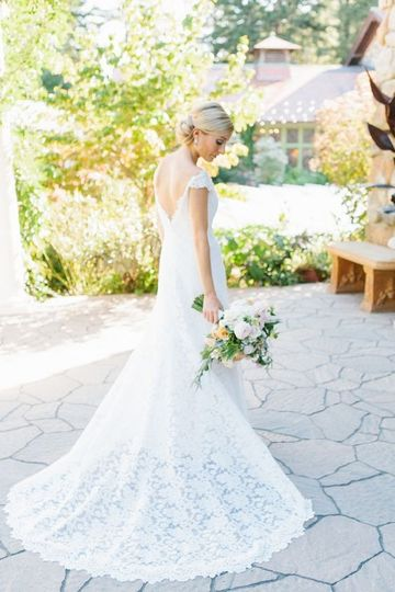 stylemepretty lace wedding dress