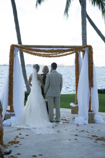 Waterfront wedding ceremony
