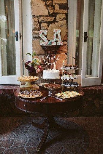 Desserts and wedding cake