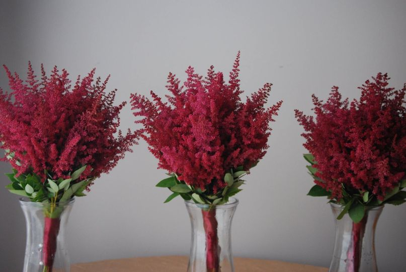 Red centerpiece ideae