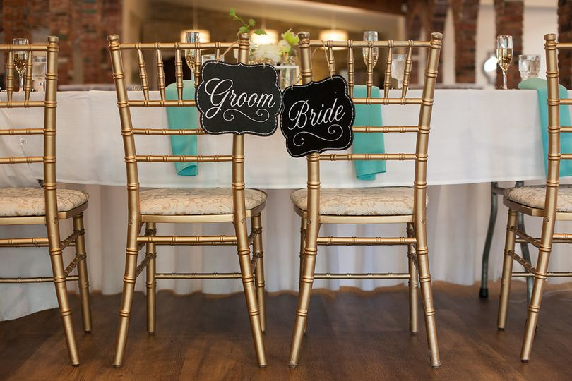 Groom and bride's chairs