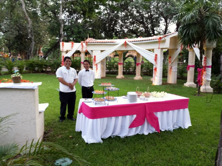 Sandos Playacar reception set up
