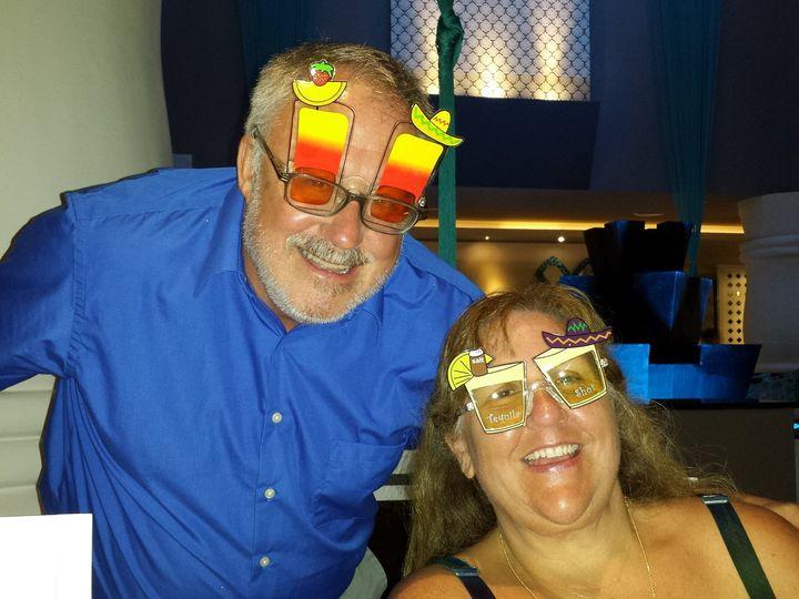 Tmx 1416271349482 Sandy And Pat W Glasses Aurora wedding travel