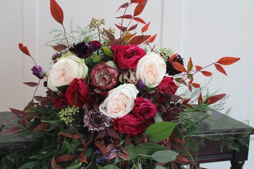 Wild Fuschia Bride's Bouquet