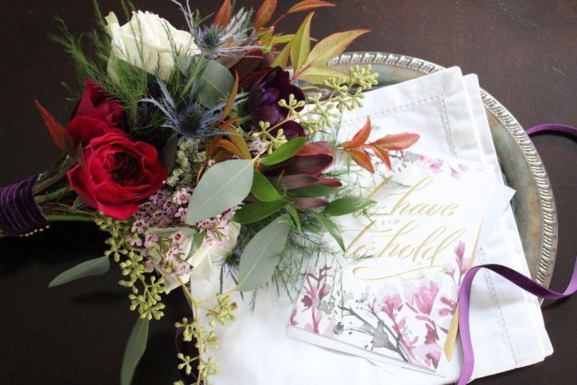Jewel Toned Bridesmaid Bouquet