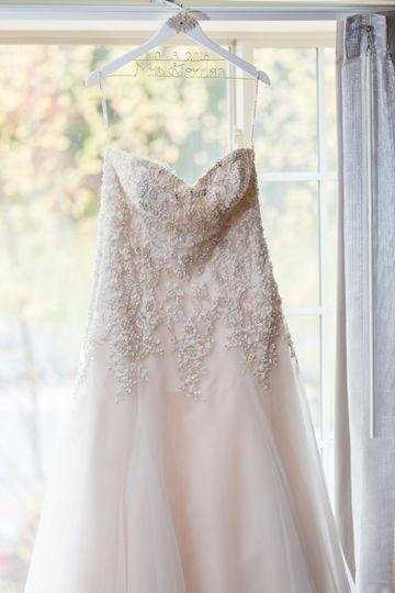 Beautiful dress hanging