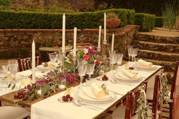 Set up table rustic chic