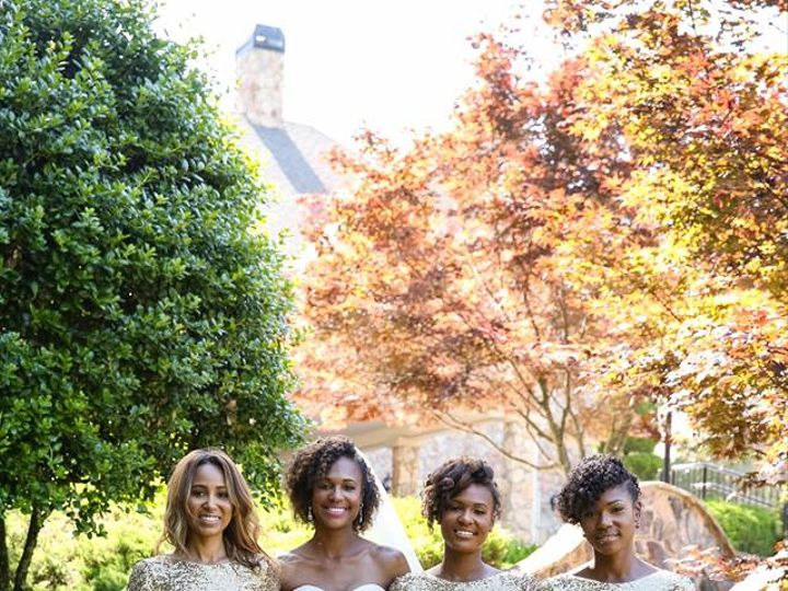Tmx Gold Maids And Bride In Front Of Bridge 51 2233 159620887753567 Tyrone, GA wedding venue