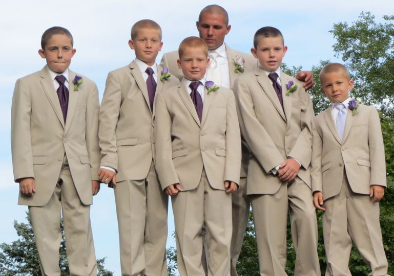 The Tan Allure Collection - very handsome Groom and his new Brother in laws!