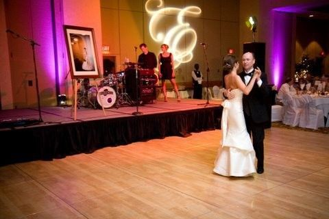 7409d4ce02d1e912 1447802053257 wedding reception with projected gobo and uplighti