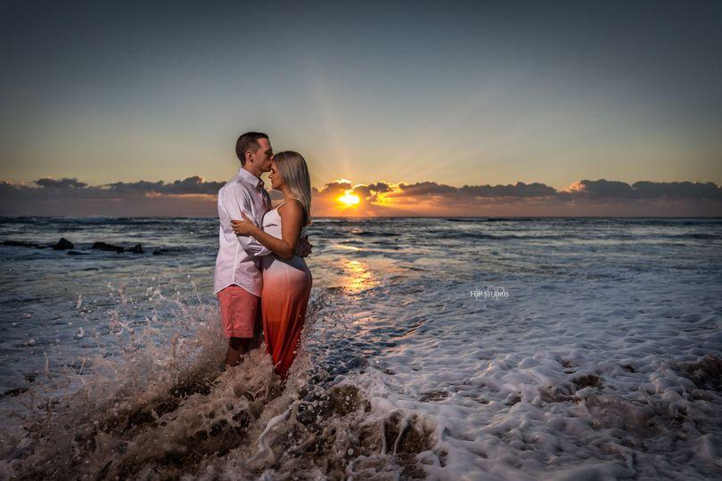 Sunrise engagement shoot, Boynton Beach, Florida