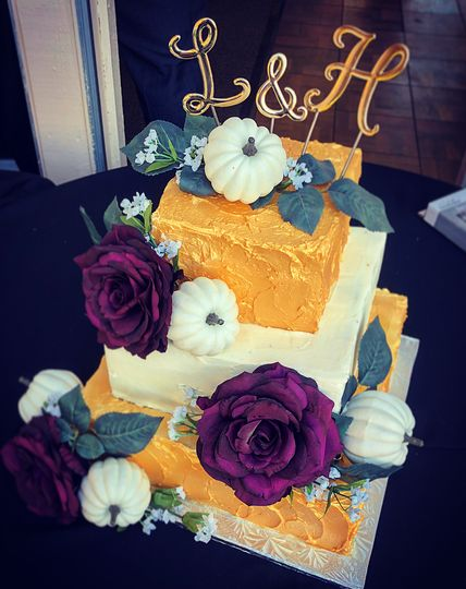 Golden October wedding
