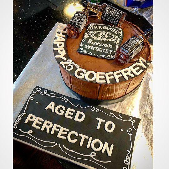 Whiskey lovers cake