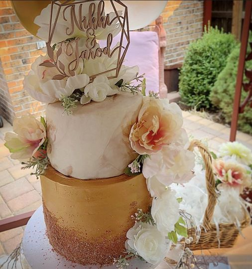 Rose Gold Garden Wedding
