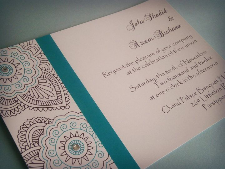 Tmx 1361042122427 Henna01 Trenton wedding invitation