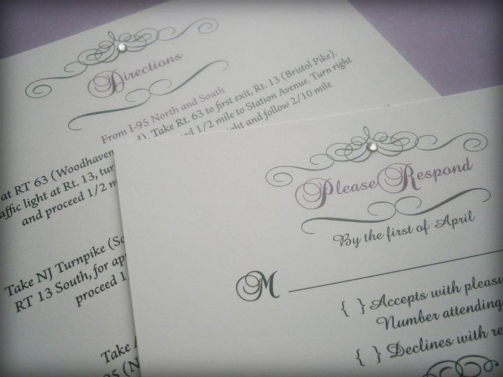 Tmx 1361042151588 Purplescroll04 Trenton wedding invitation