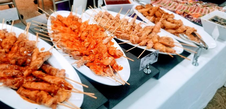 Chicken satay appetizers