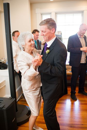 Groom and his Mom. At the Hendry House in Arlington, VA.