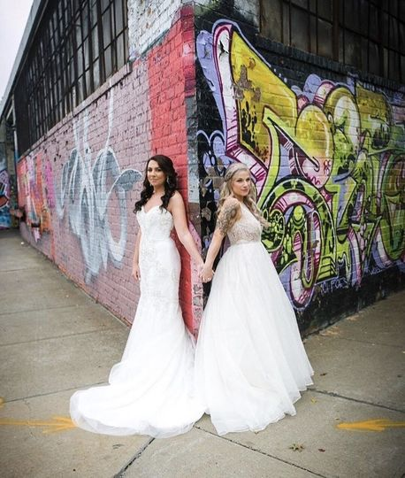 Two streetwise brides