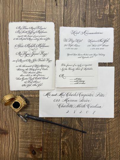 Hand Calligraphy invitation
