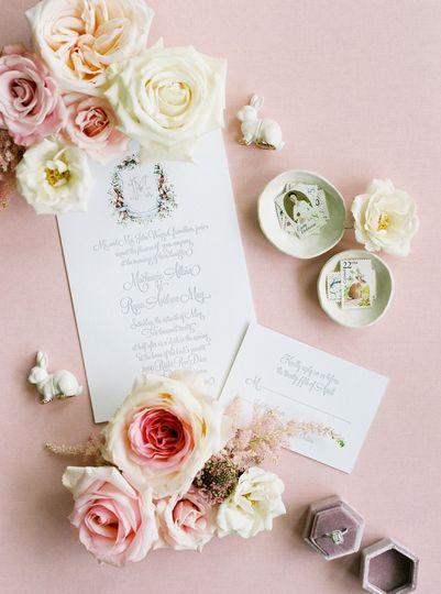 Spring Letterpress invitation