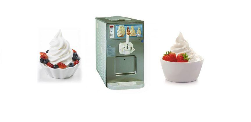 soft serve with machine