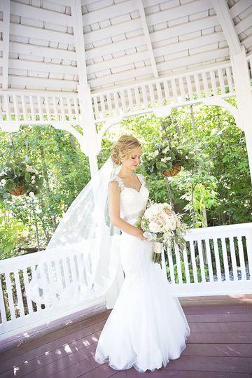 Bride in the patio