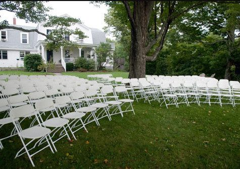Chairs set-up for outdoor ceremony