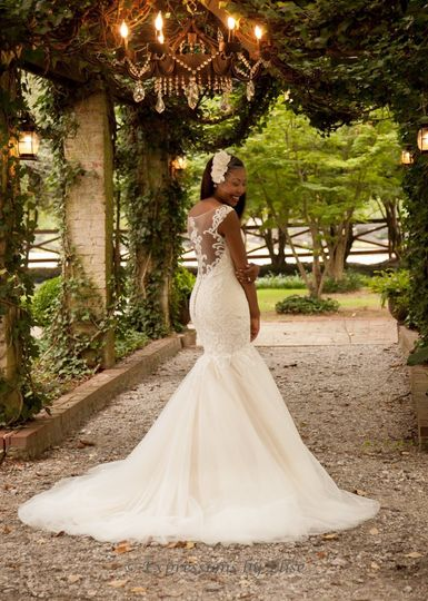 bride at arbor
