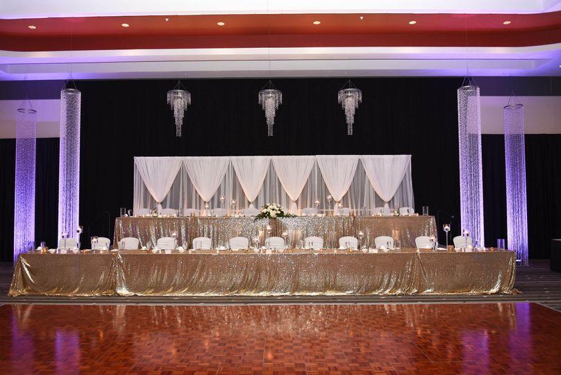 Reception venue head table.