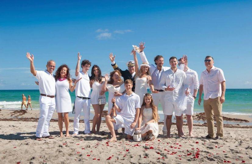 Family on Hollywood Beach