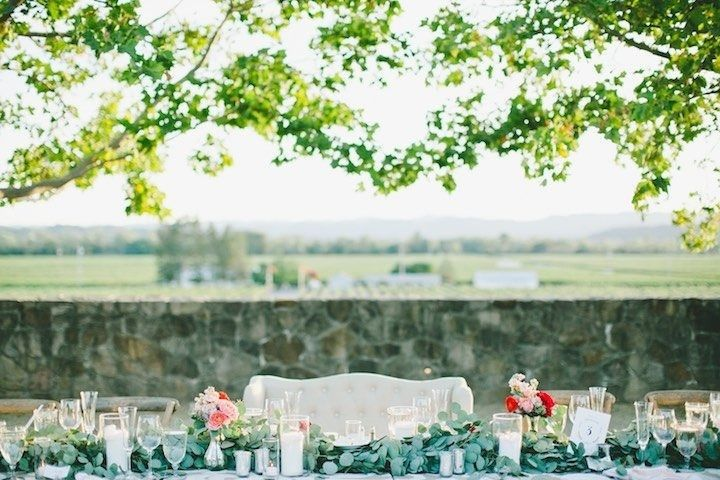 head table with view of background