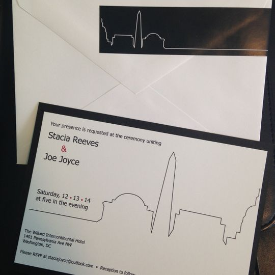 Heart rate monitor themed invite