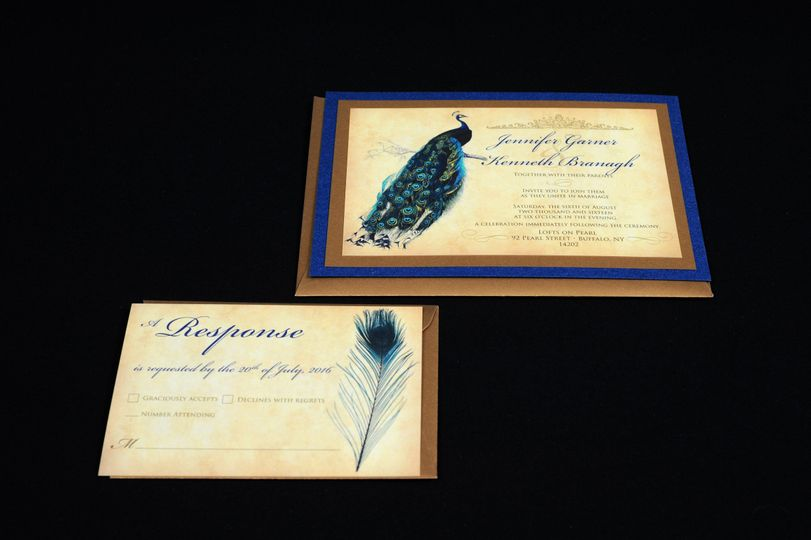 Peacock themed invite