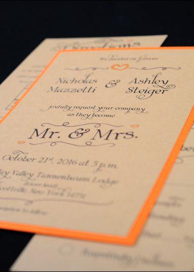 Orange detailed invite