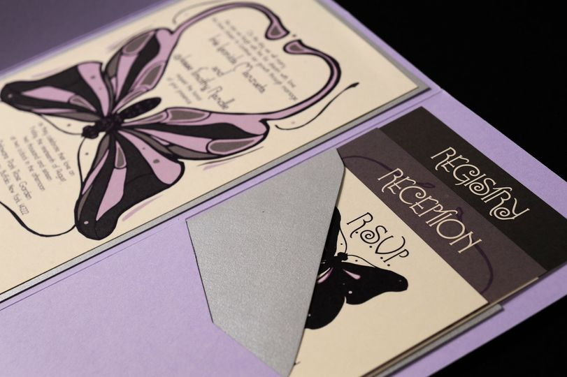 Butterfly themed invite