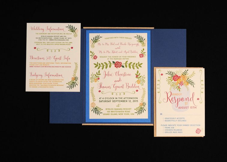Plant and flower themed invites