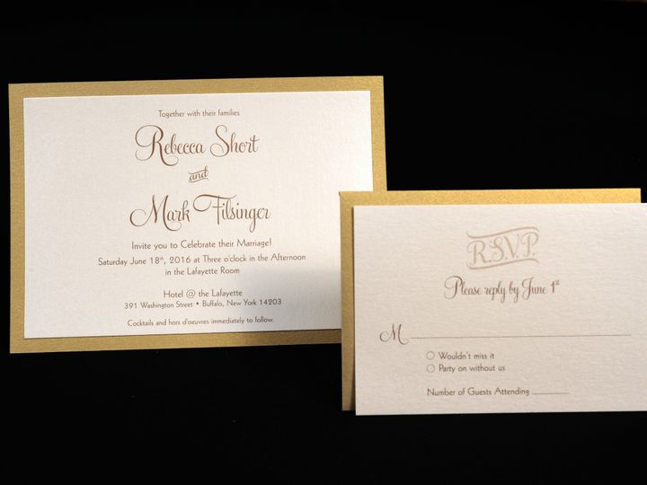 Tmx 1482449159761 Wvw0213 Hamburg, NY wedding invitation