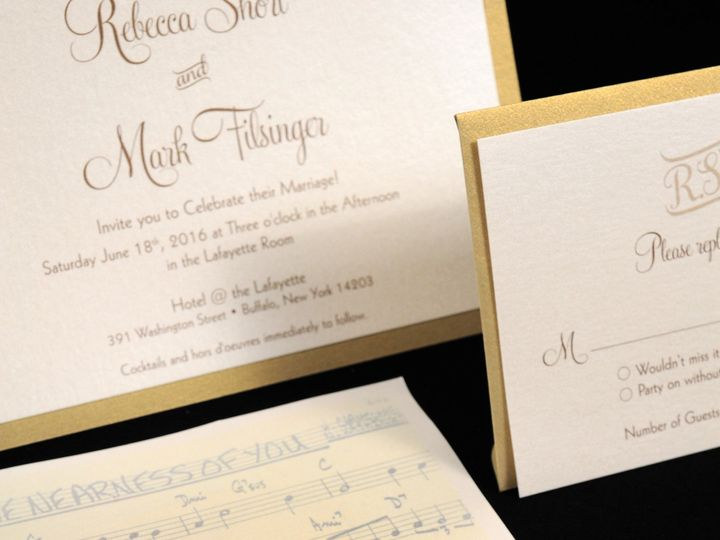 Tmx 1482449170969 Wvw0216 Hamburg, NY wedding invitation