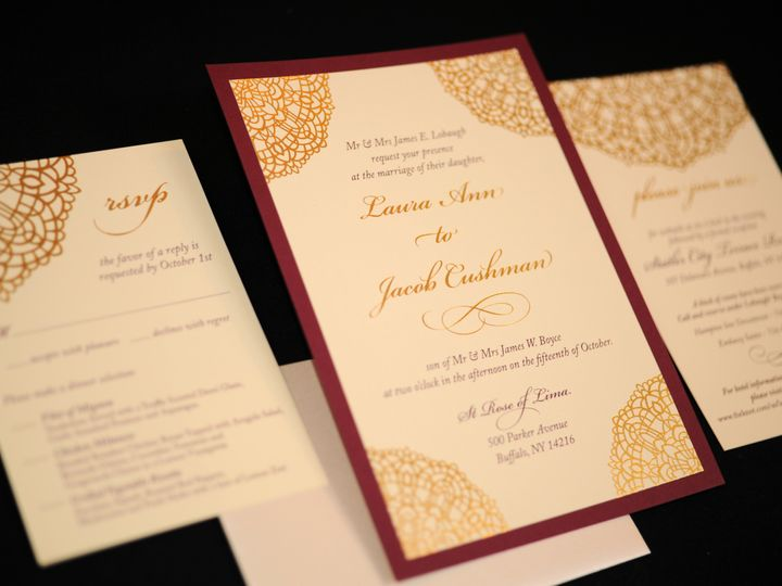 Tmx 1482449271053 Wvw0283 Hamburg, NY wedding invitation
