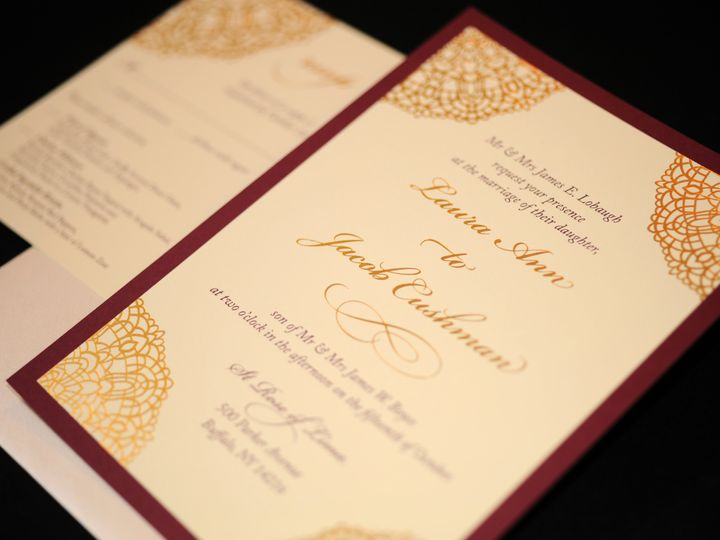 Tmx 1482449282901 Wvw0286 Hamburg, NY wedding invitation