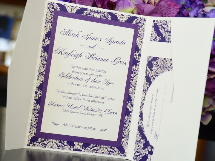 Tmx 1482451119369 Wvw6178 Hamburg, NY wedding invitation