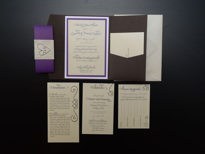Tmx 1482451129402 Wvw6188 Hamburg, NY wedding invitation